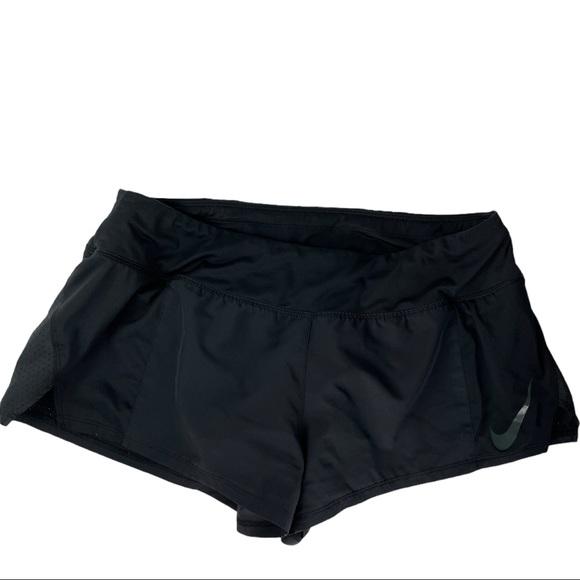 Nike black running shorts lined drawstring waist